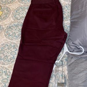 Maroon pants from J Crew